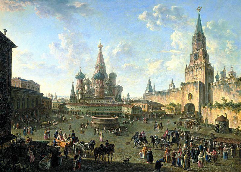 Красная площадь в Москве (картина Алексеева), 1801. ГТГ