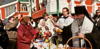 Освящение куличей Великая суббота