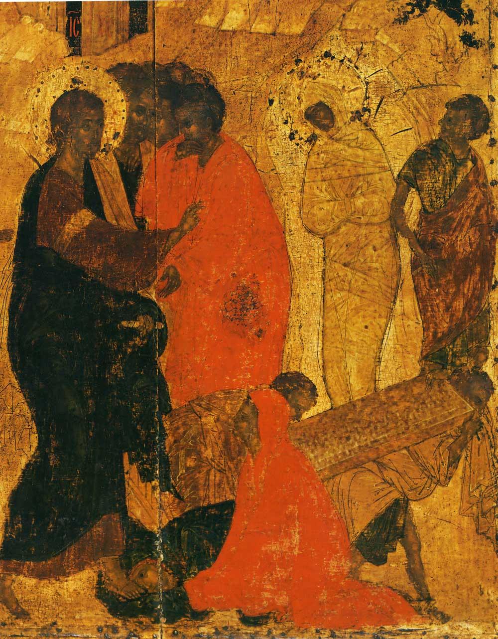 "Рублев""Воскрешение Лазаря"". Начало XV века"