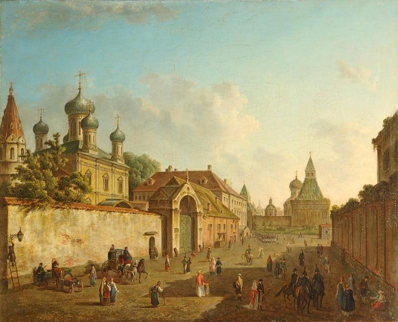 Вид от Лубянки на Владимирские ворота. Федор Алексеев