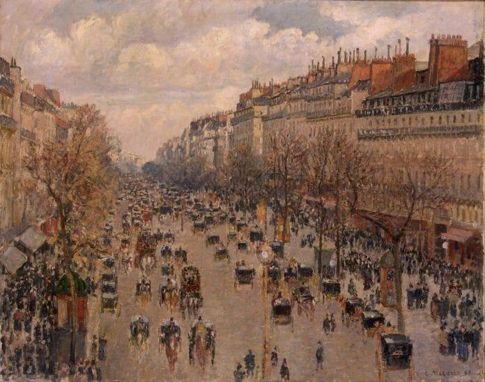 БУльвар Монмартр в Париже Камиля Писсарро