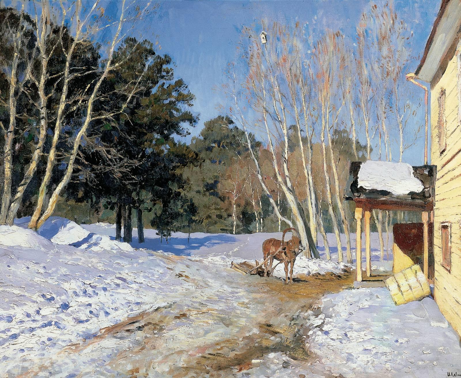 Картинки по запросу картина март исаак левитан