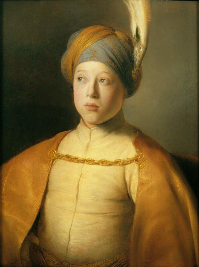 Ян Ливенc.Мальчик в плаще и тюрбане. 1631. Лейденская коллекция