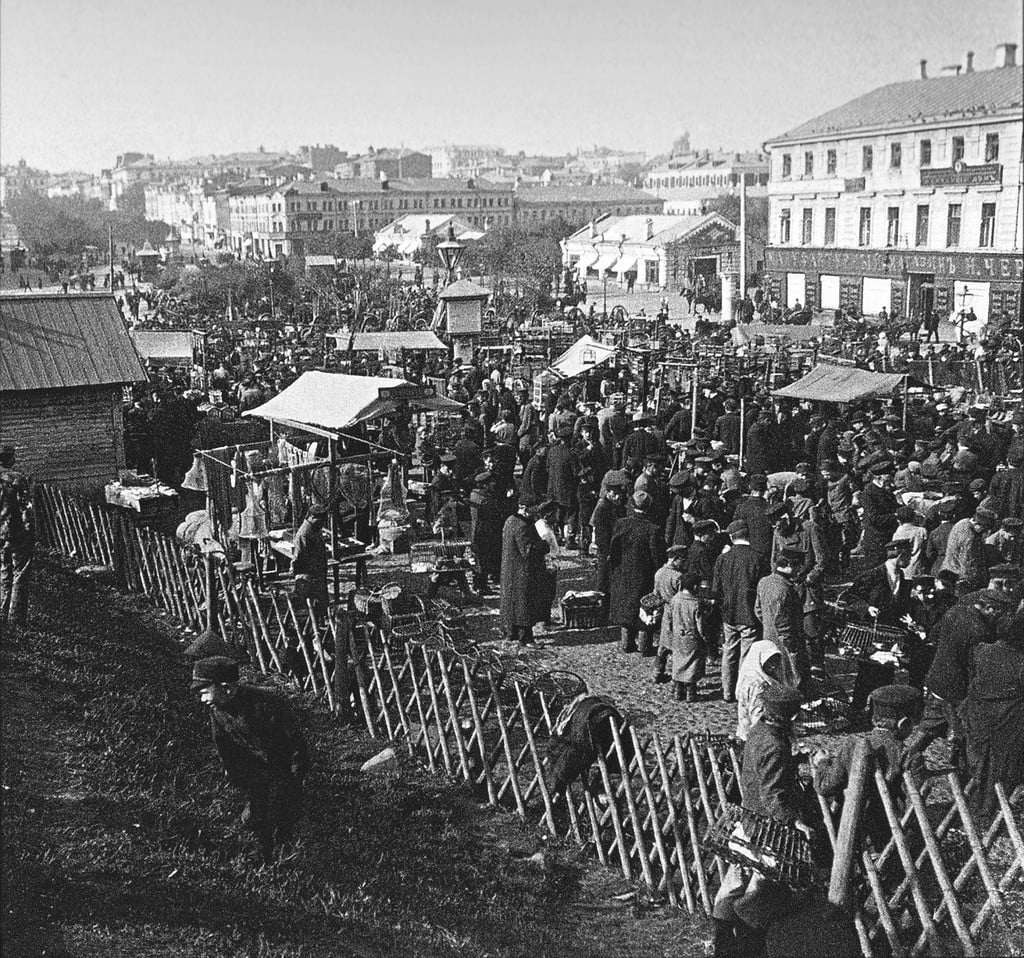 Воскресный птичий рынок на Трубной площади