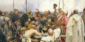 Zaporozhtsyi-pishut-pismo-turetskomu-sultanu.-1891