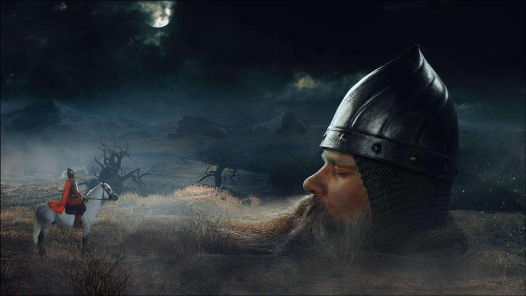 Пушкин и голова из Сергиевке в поэме