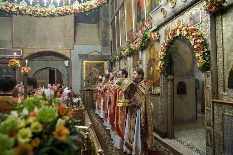 Сретенский монастырь. Пасхальная служба