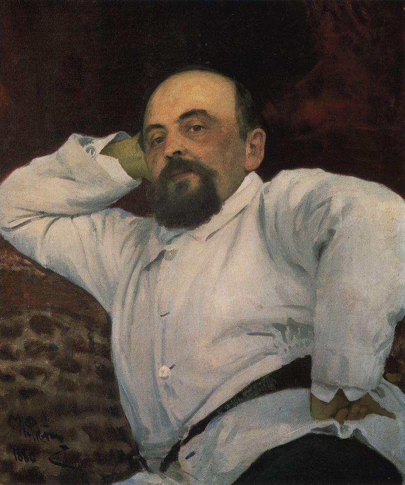 Илья Репин. Портрет Саввы Мамонтова. 1880