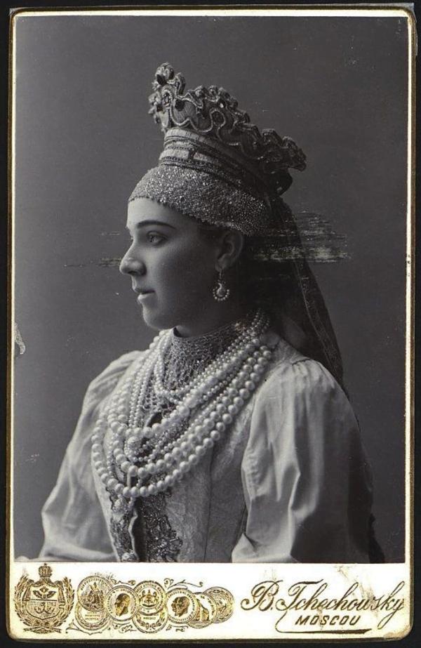 Надежда Забела-Врубель в образе Морской Царевны опера «Садко», 1900 г.