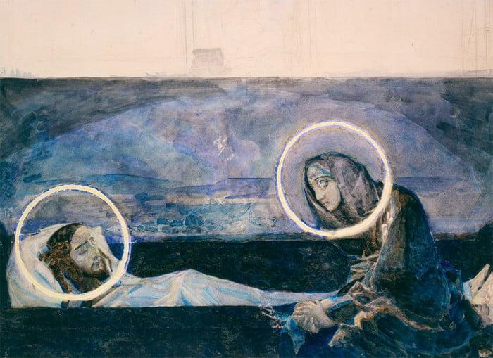 Надгробный плач. Эскиз к росписи Владимирского собора в Киеве. 1887